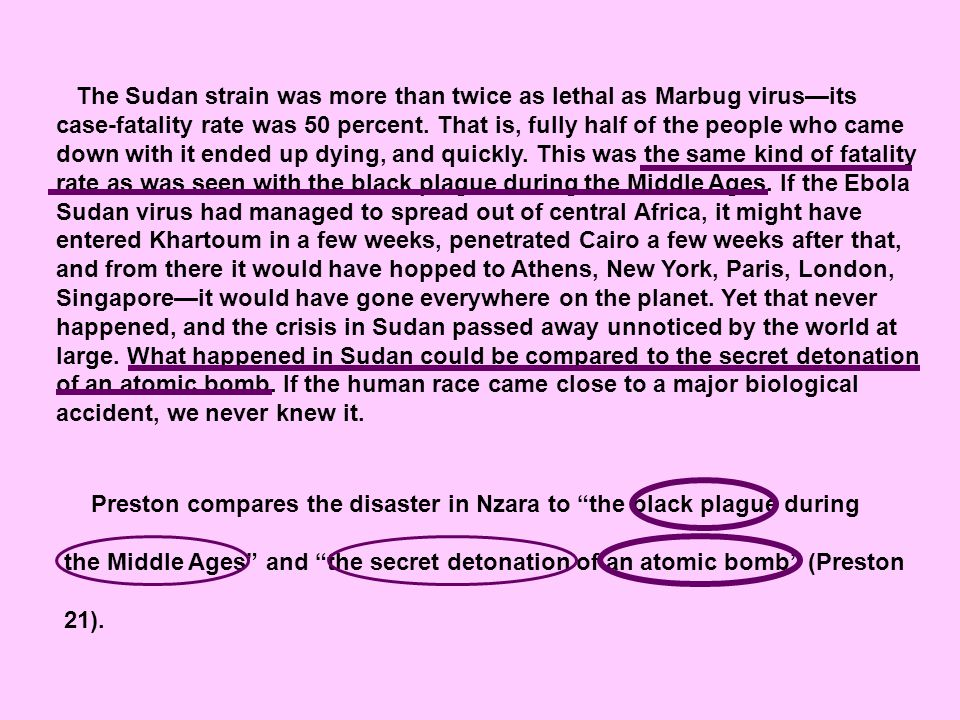The Sudan strain was more than twice as lethal as Marbug virus—its case-fatality rate was 50 percent.
