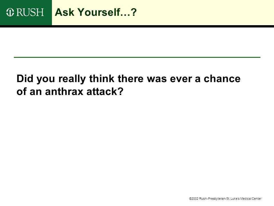 ©2002 Rush-Presbyterian-St. Luke's Medical Center Ask Yourself….