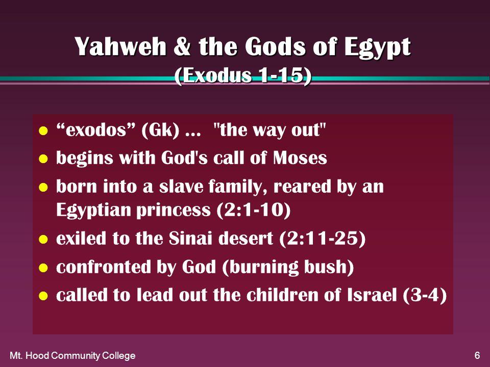 6 Yahweh & the Gods of Egypt (Exodus 1-15) l exodos (Gk)...