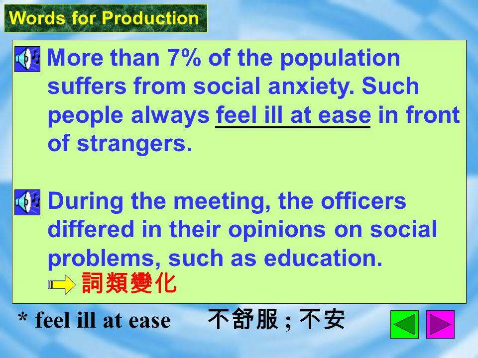 Words for Production 8. social [ `soS1l ] adj.