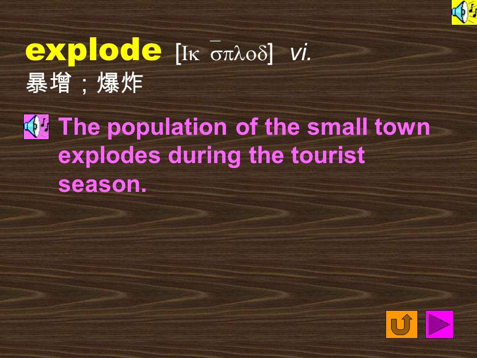 Words for Production 14. explosive [ Ik`splosIv ] adj.