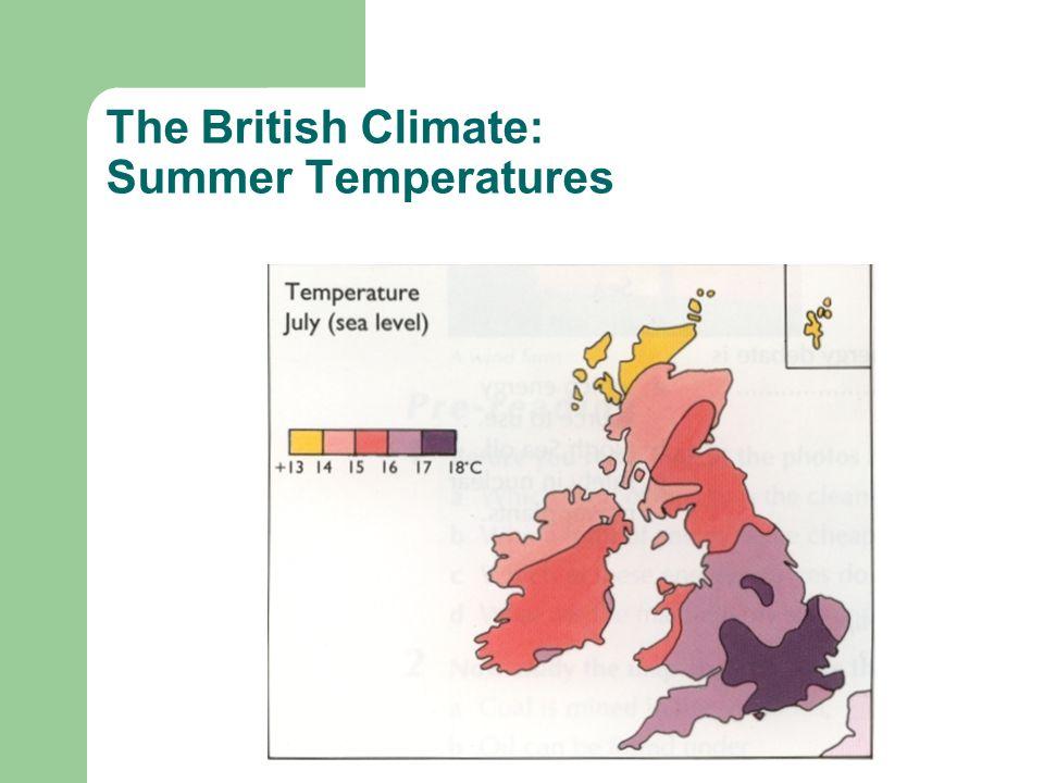 The British Climate: Summer Temperatures