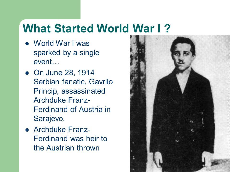 What Started World War I .