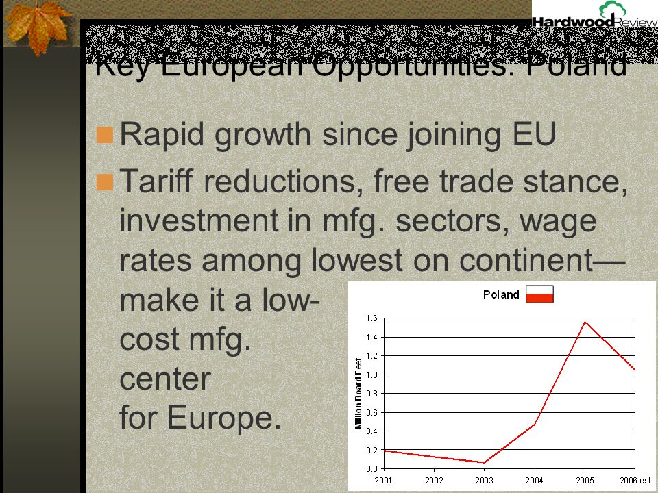 Rapid growth since joining EU Tariff reductions, free trade stance, investment in mfg.