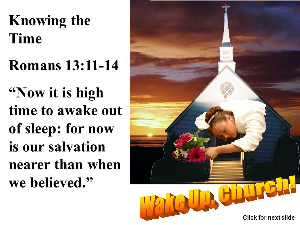 The wrath of God to be poured out! Revelation 15:5-8 Click for next slide