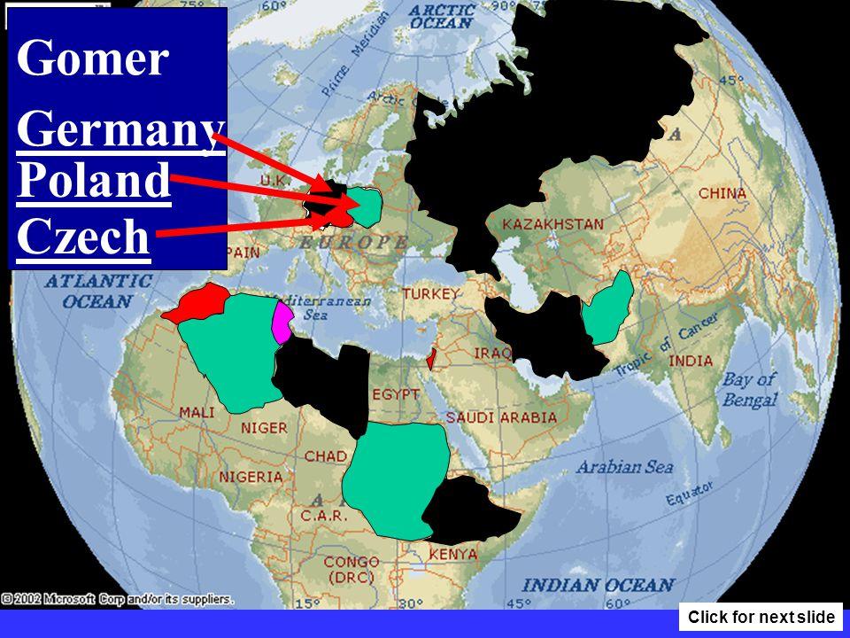 Algeria Libya Morocco Tunisia Click for next slide
