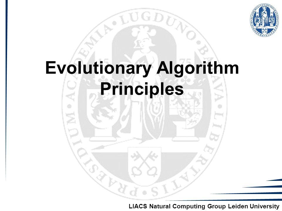 LIACS Natural Computing Group Leiden University Evolutionary Algorithm Principles