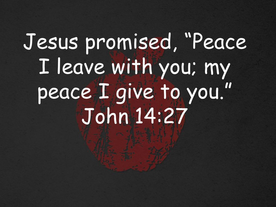 1) Understand that peace comes as a by- product of entrusting your life to God and not from seeking peace itself.