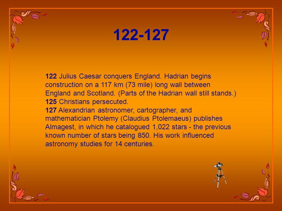 122 Julius Caesar conquers England.