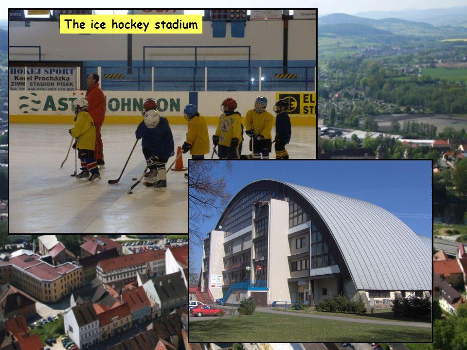 The ice hockey stadium