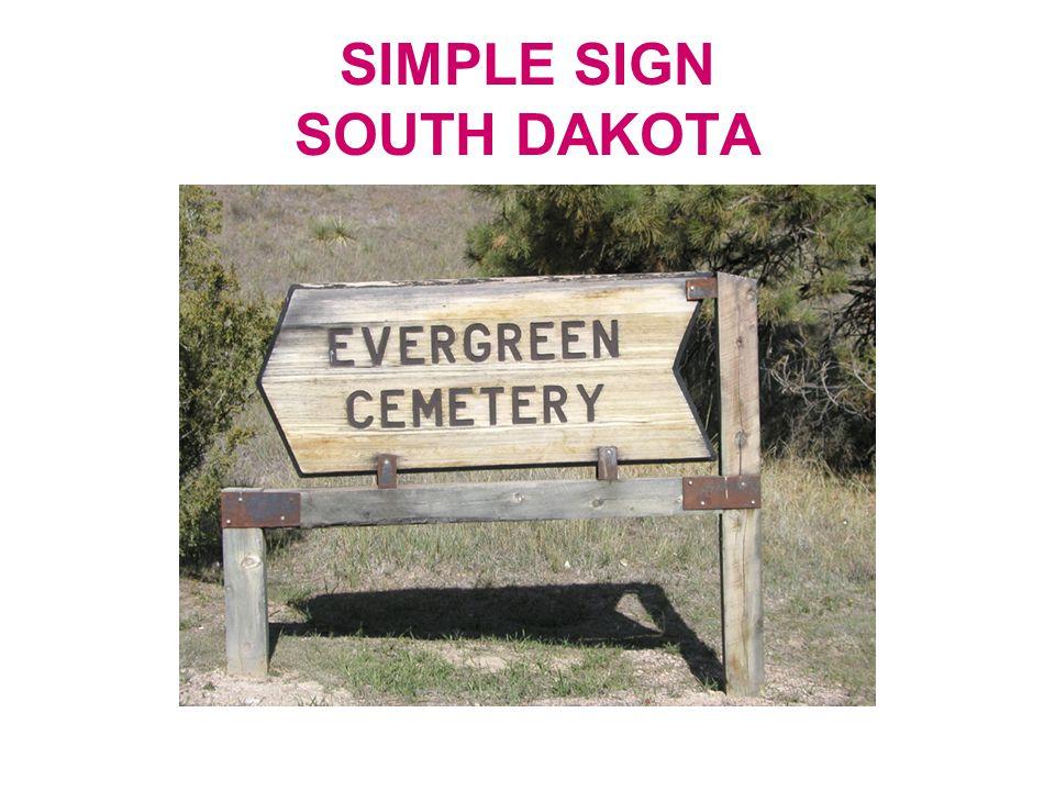 SIMPLE SIGN SOUTH DAKOTA