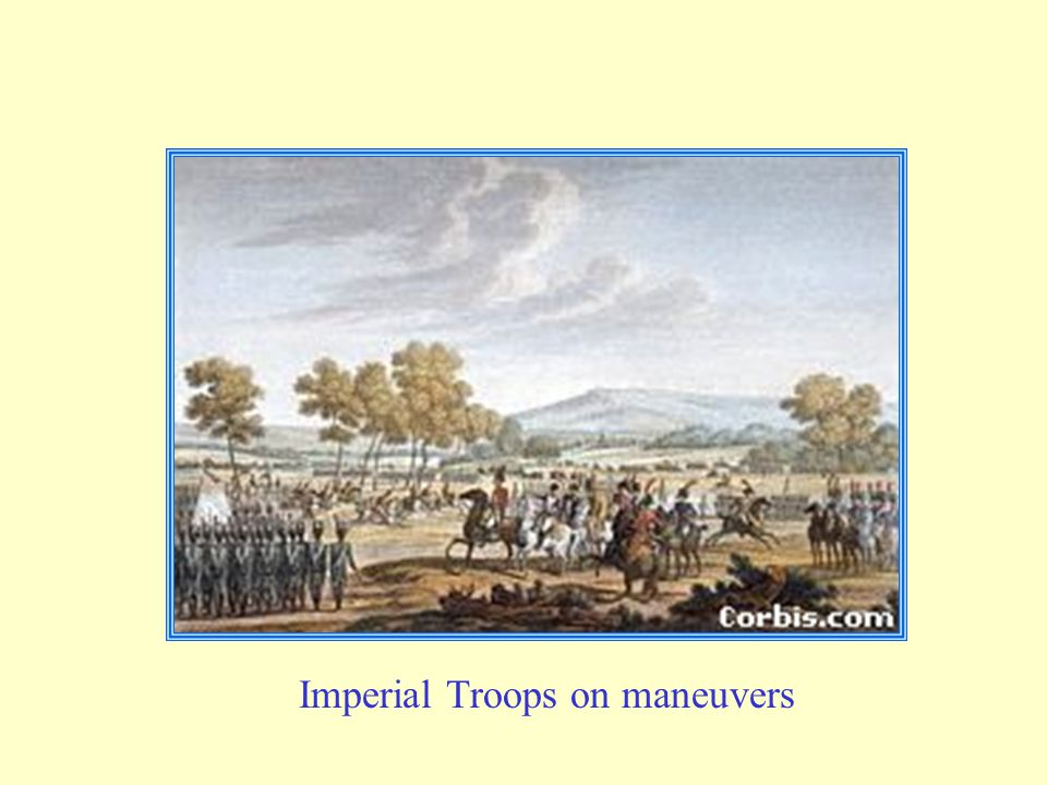 Imperial Troops on maneuvers