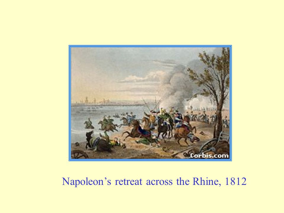 Napoleon's retreat across the Rhine, 1812