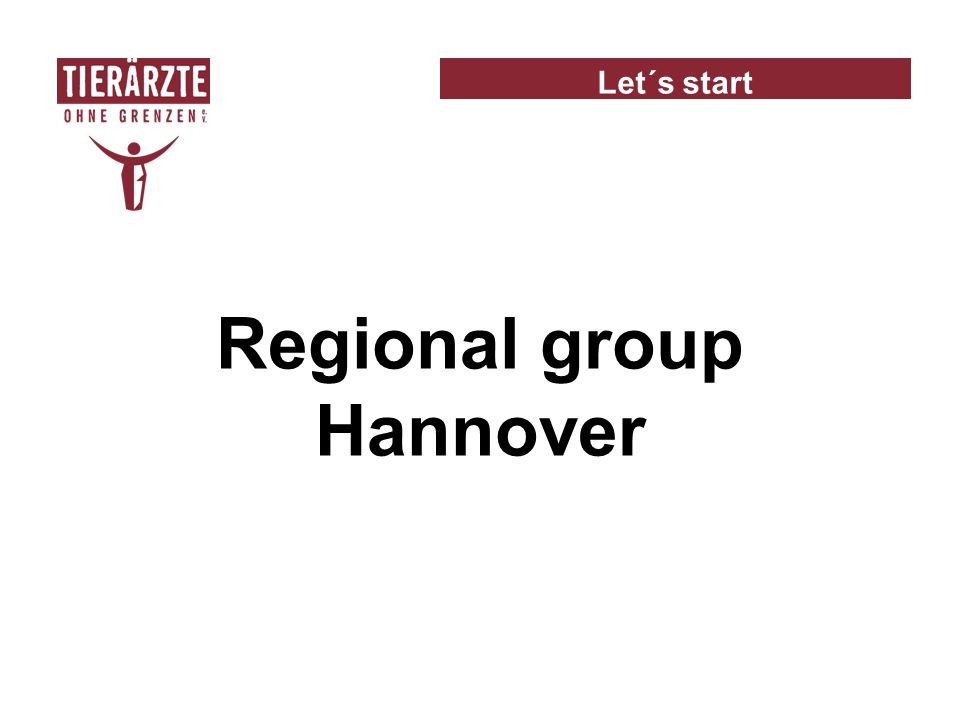Let´s start Regional group Hannover