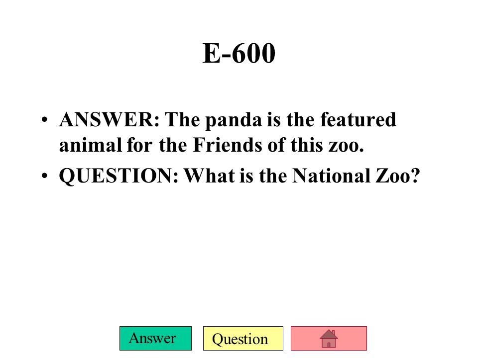 Question Answer E-400 ANSWER: Except for zoos, this animal is only found on the island of Madagascar.