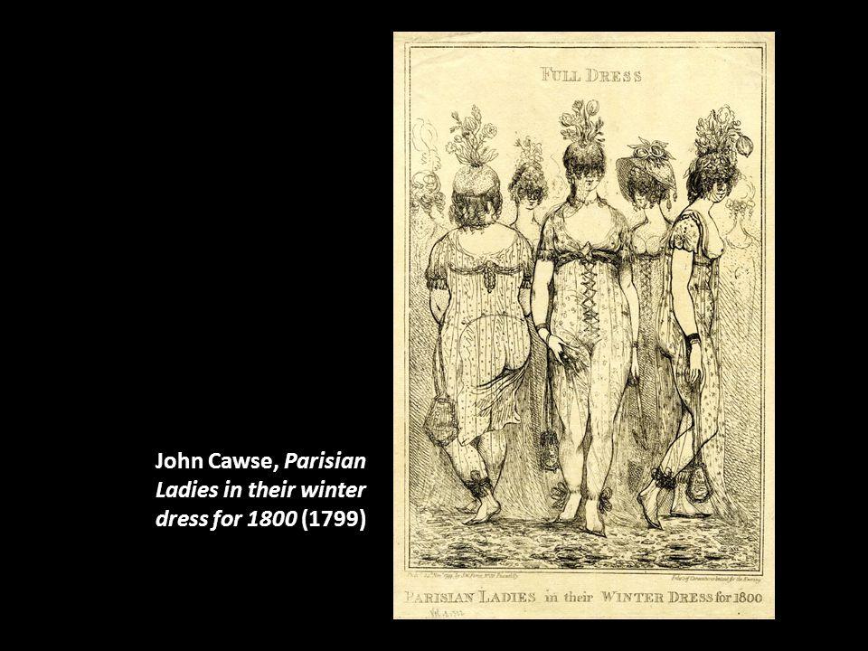 John Cawse, Parisian Ladies in their winter dress for 1800 (1799)