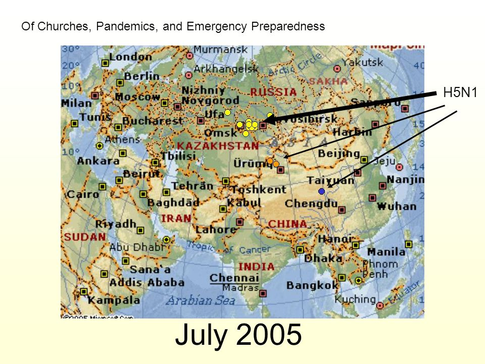 July 2005 H5N1 Of Churches, Pandemics, and Emergency Preparedness