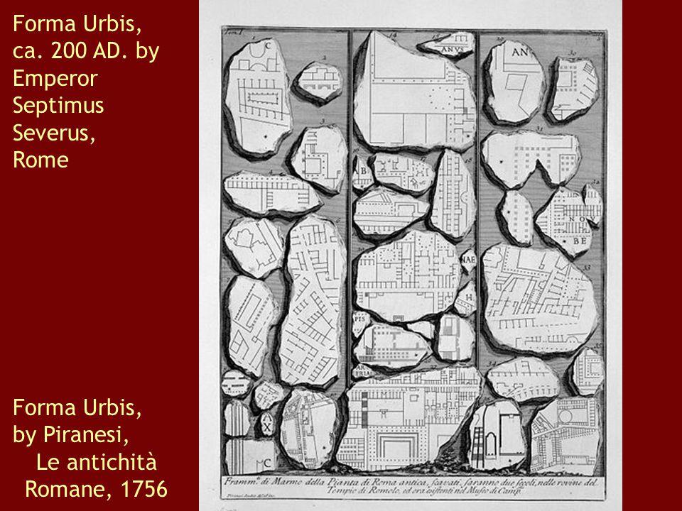 Forma Urbis, ca. 200 AD.
