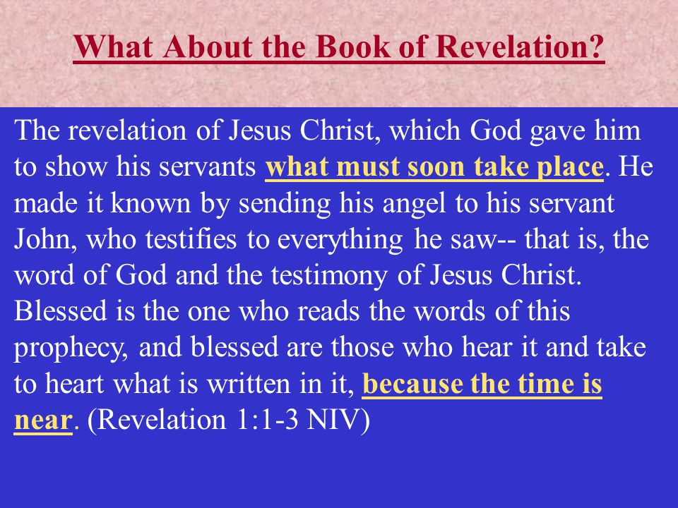 What About the Book of Revelation.
