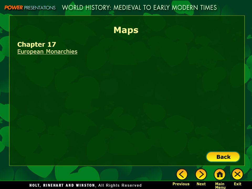 Maps Chapter 17 European Monarchies
