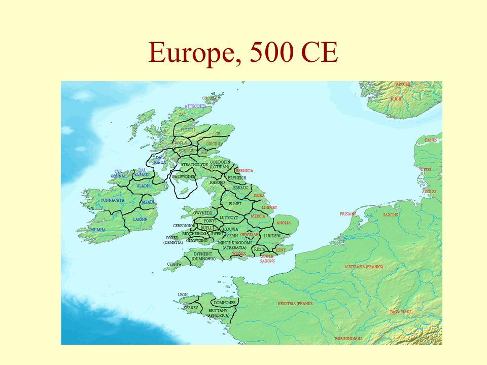 Europe, 500 CE