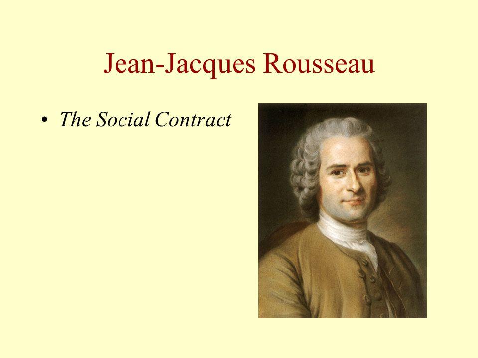 Jean-Jacques Rousseau The Social Contract