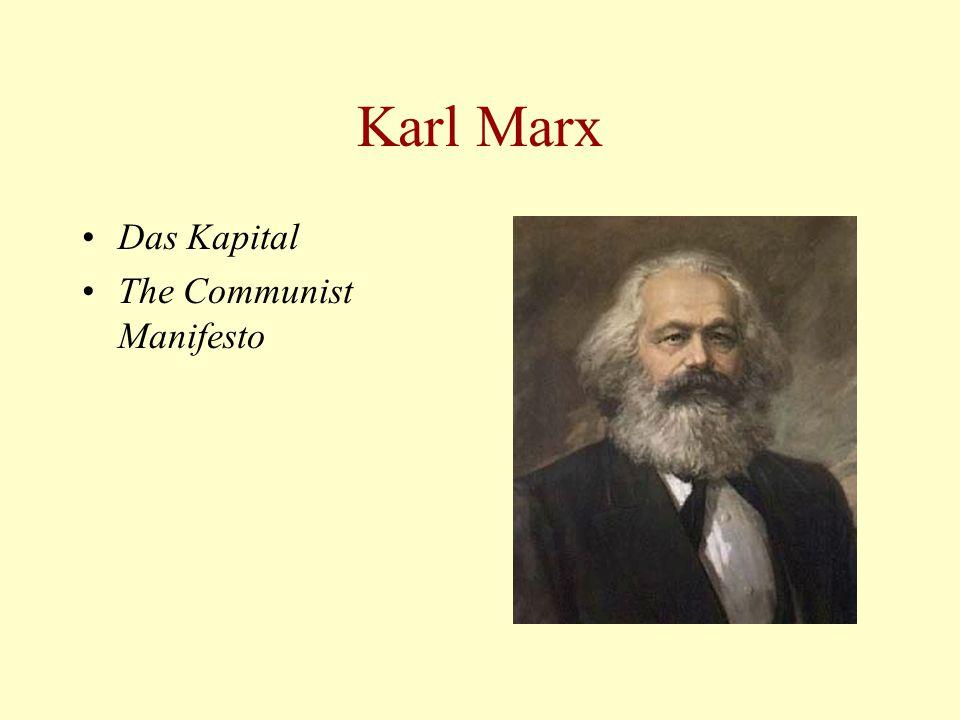 Karl Marx Das Kapital The Communist Manifesto