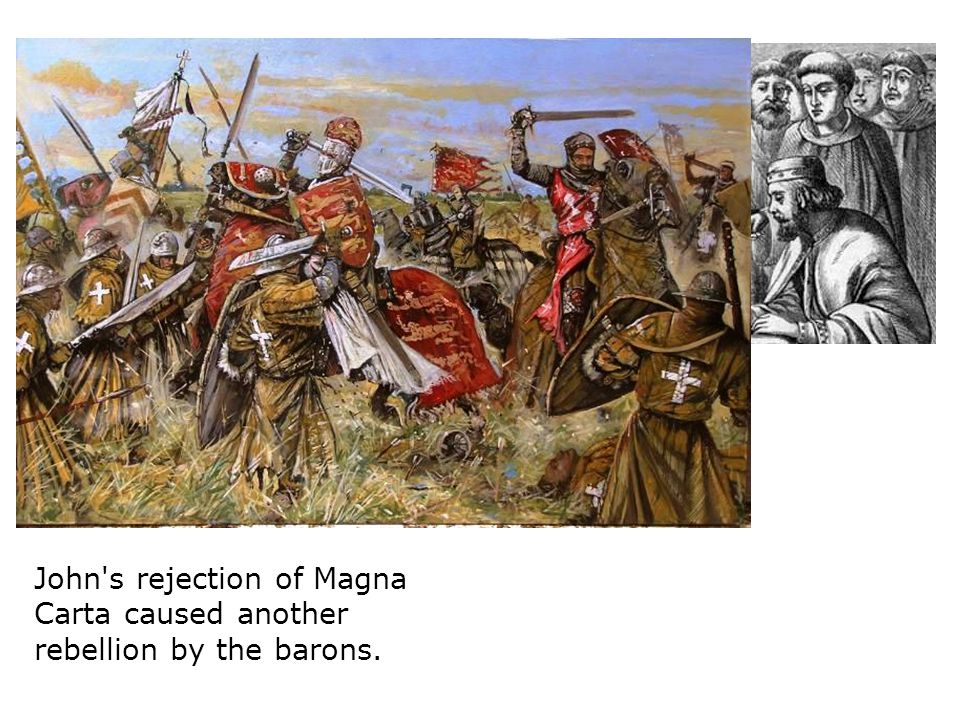 In October 1216, retreating from the Barons and their French allies, John lost all his supplies and treasure trying to cross the Wash River.