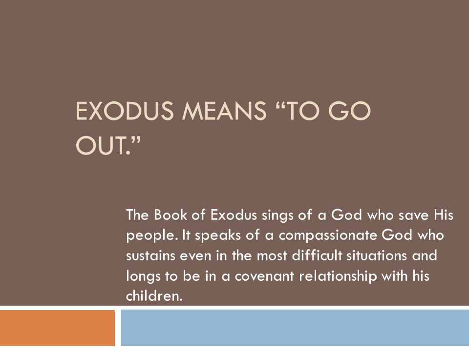 What is the Book of Exodus about.