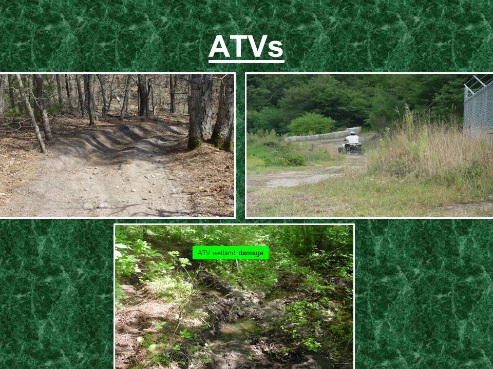 ATVs ATV wetland damage