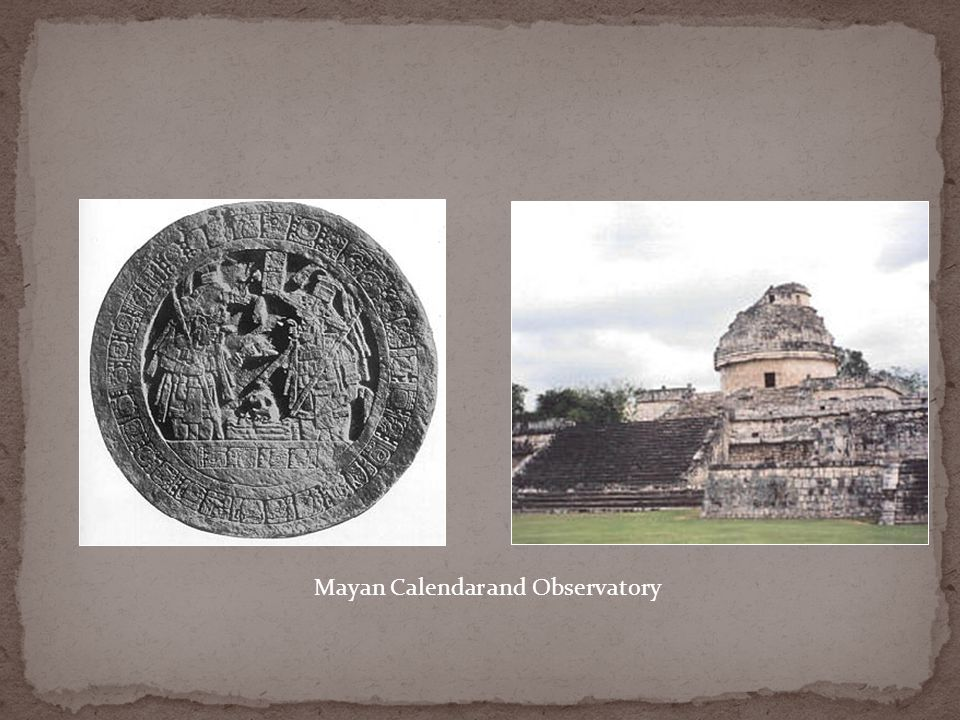 Mayan Calendar and Observatory
