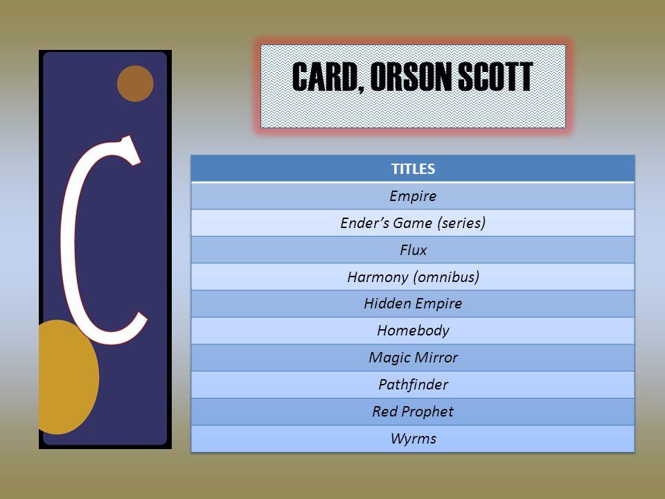 CARD, ORSON SCOTT