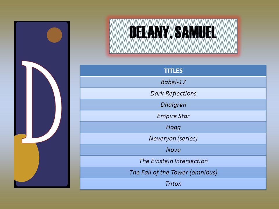 DELANY, SAMUEL