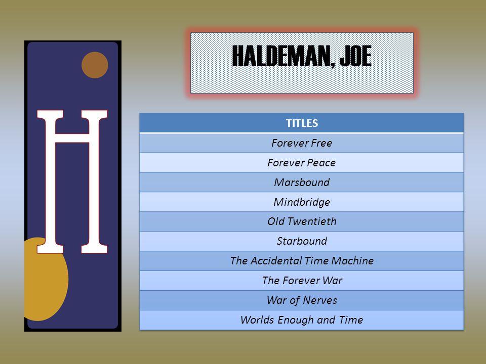 HALDEMAN, JOE