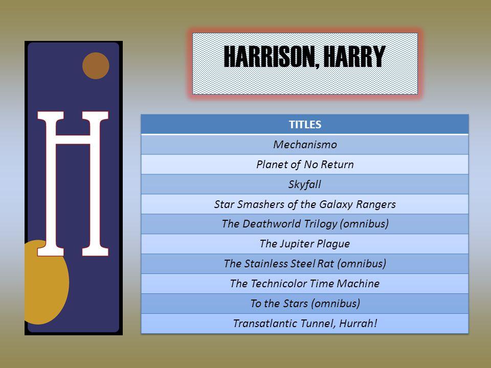 HARRISON, HARRY