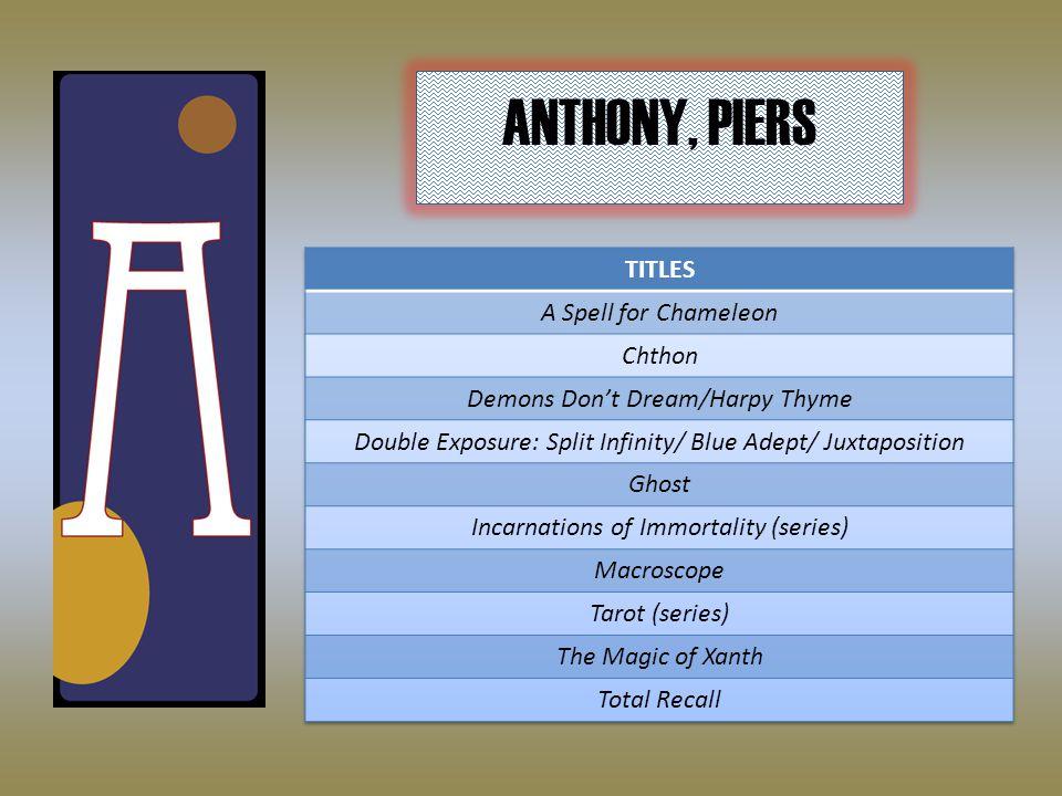 ANTHONY, PIERS