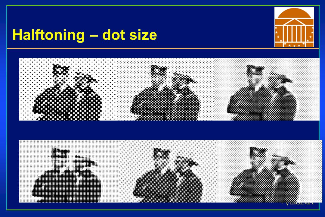 Halftoning – dot size