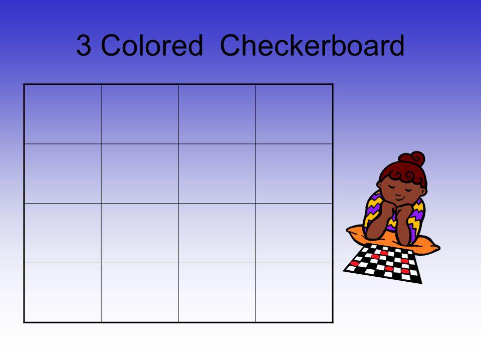 3 Colored Checkerboard