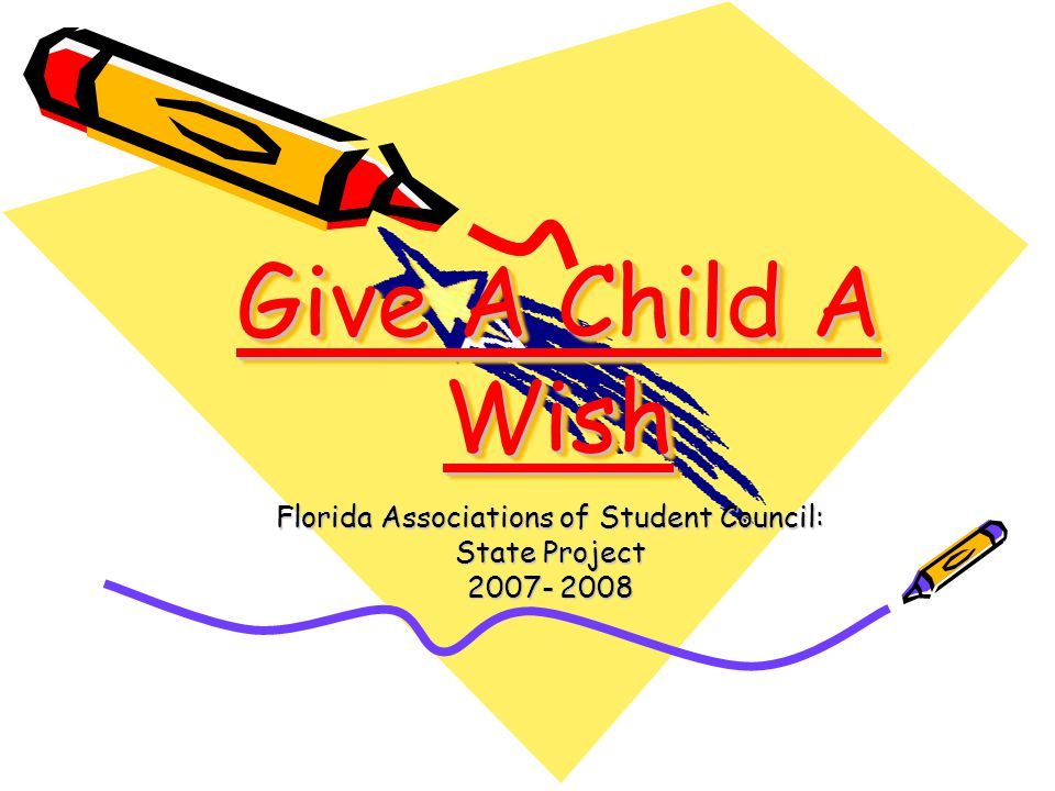 Give A Child A Wish Florida Associations of Student Council: State Project 2007- 2008