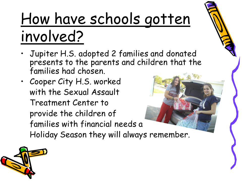 How have schools gotten involved. Jupiter H.S.