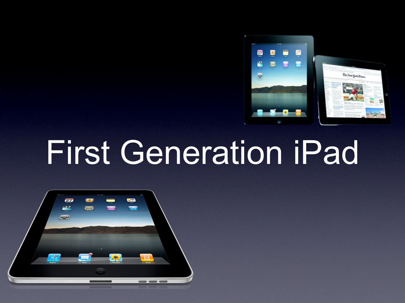 Price USD$499 for iPad 2 entry level First generation iPad dropped USD$100 Appearances of substitutes iPad's demand decreases Price is supposed to decrease as well to achieve equilibrium price