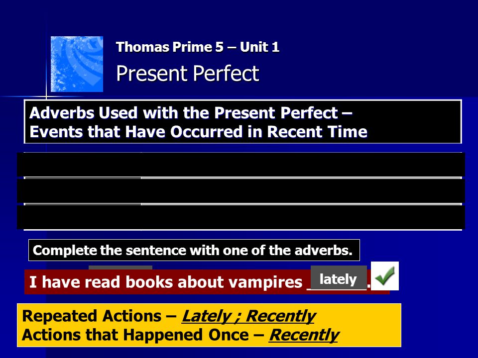 Thomas Prime 5 – Unit 1 Present Perfect What have these people done.