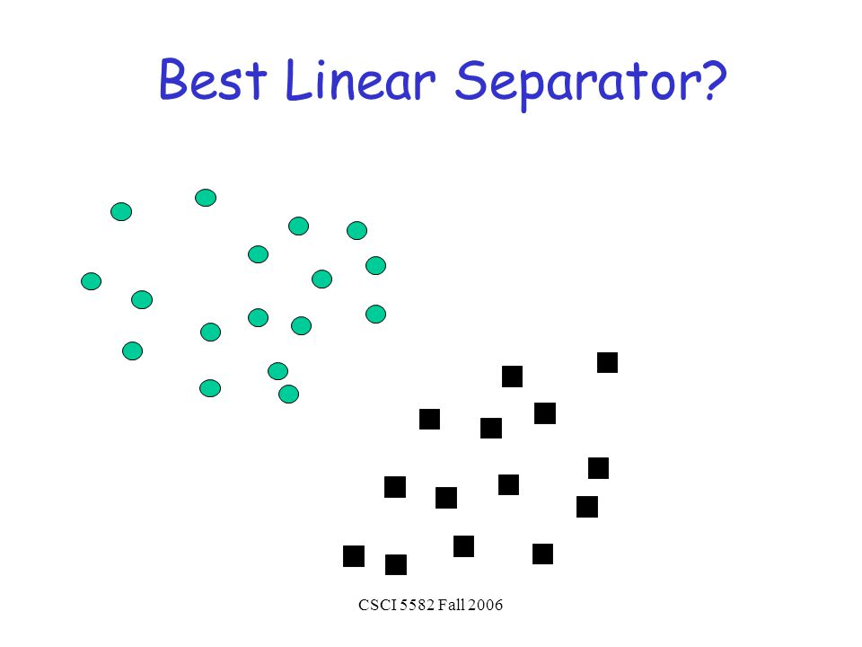CSCI 5582 Fall 2006 Best Linear Separator?