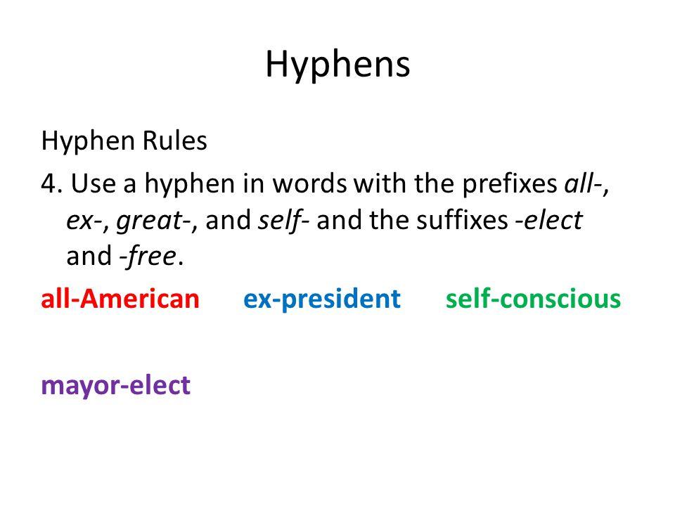 Hyphens Hyphen Rules 4.