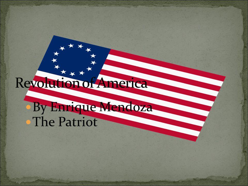 By Enrique Mendoza The Patriot