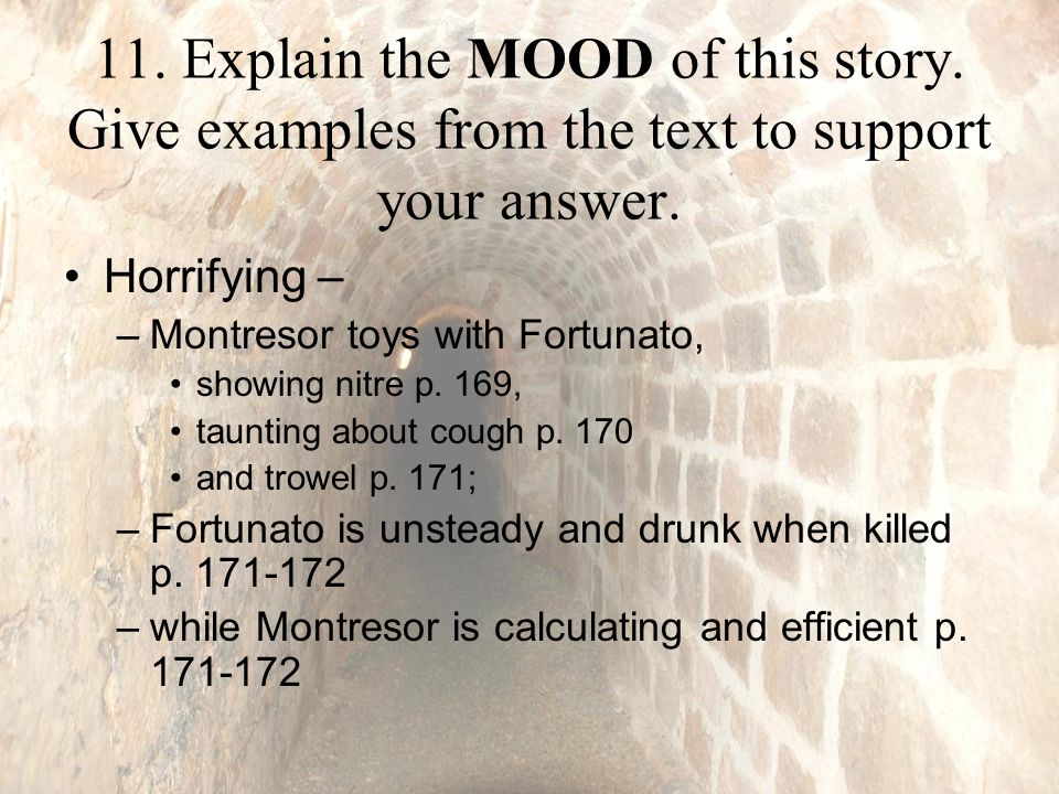 11.Explain the MOOD of this story. Give examples from the text to support your answer.