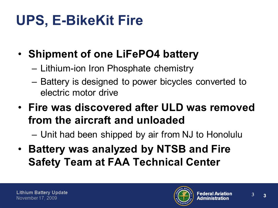 24 Federal Aviation Administration Lithium Battery Update November 17, 2009 24 FEDEX, Ruyan Inhaler