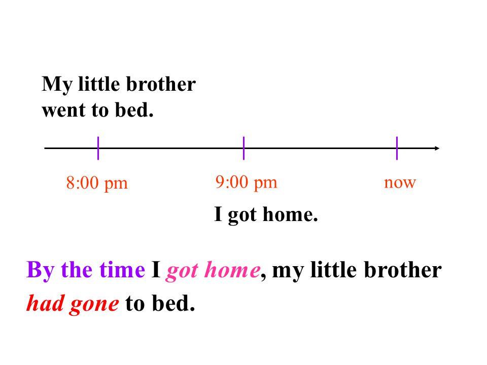 The Past Perfect Tense 过去完成时态 1. 过去完成时的谓语构成: 2.