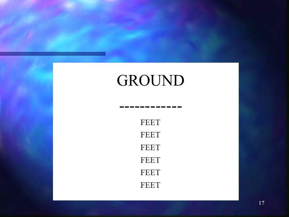 17 GROUND ------------ FEET