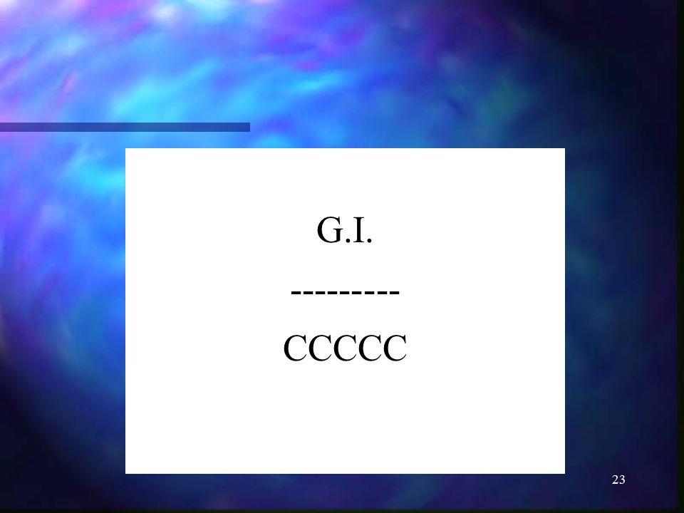 23 G.I. --------- CCCCC